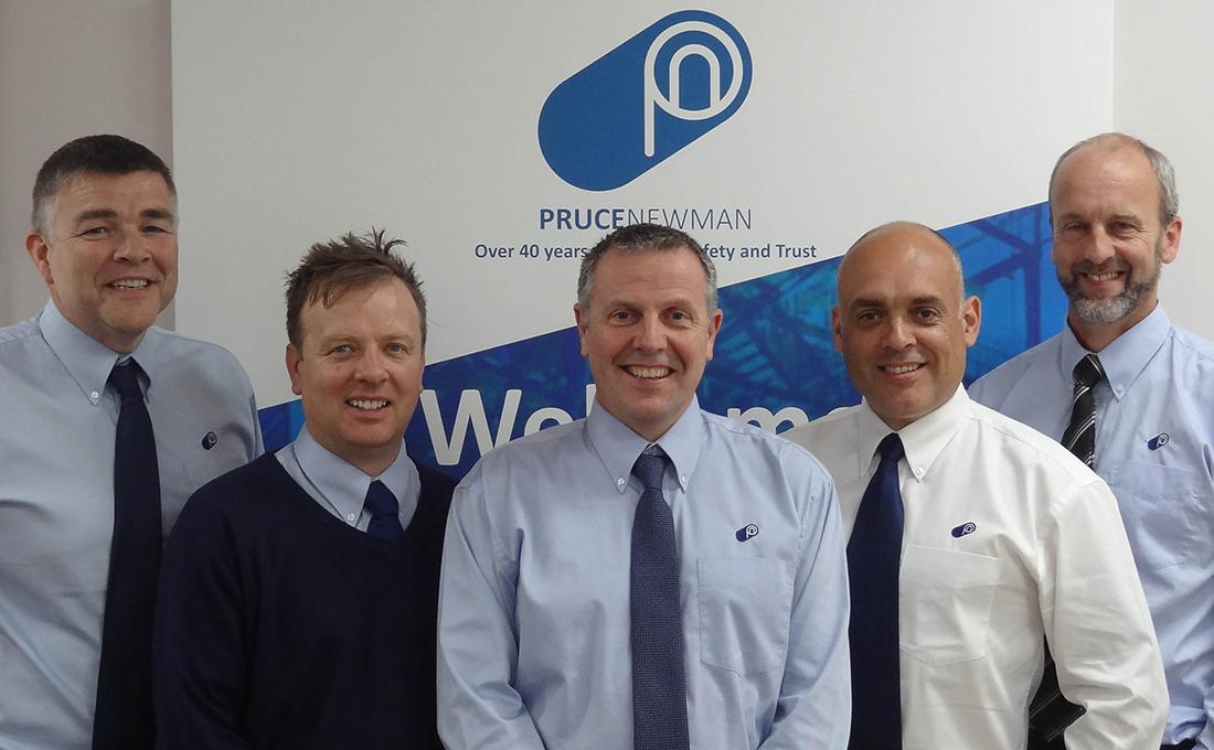 The members of Pruce Newman's Executive Board: (l-r) Alan Pruce, Jamie Key, Graham Newman, Darren Razzell, Tim Moorse